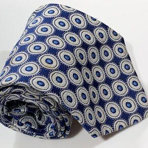 VINTAGE Short Wide polyester men's neck tie